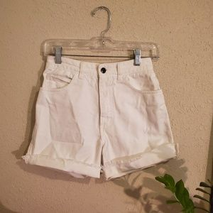 Guess Vintage High Waisted White Denim Shorts